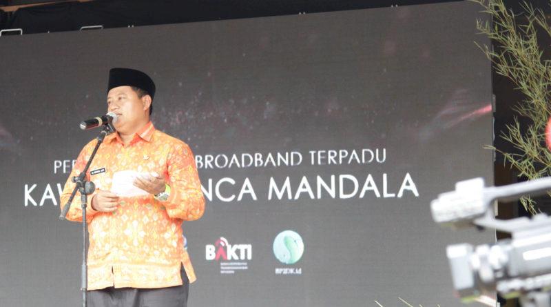 Peresmian Desa Broadband Terpadu (DBT) Kawasan Desa Panca Mandala